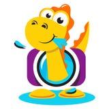 Het embleem van de dinosaurusfotograaf stock illustratie