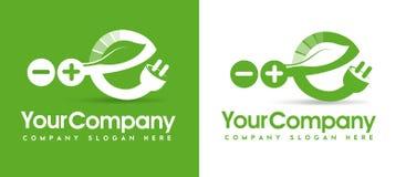 Het Embleem van de Ecoenergie Stock Foto
