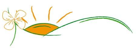 Het embleem van de ecologie Stock Foto