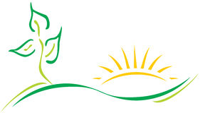 Het embleem van de ecologie Royalty-vrije Stock Foto