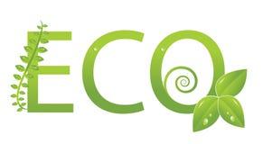 Het embleem van de ecologie (bescherm het milieu) Royalty-vrije Stock Foto's