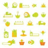 Het embleem van de ecologie en pictogrammenâ vector Royalty-vrije Stock Foto