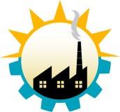 Het embleem van de fabriek Stock Foto