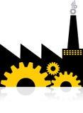 Het embleem van de fabriek Royalty-vrije Stock Foto