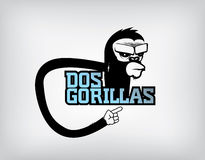 Het embleem van de gorilla Stock Afbeelding