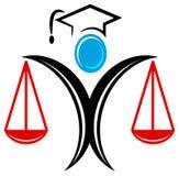 Het embleem van de graduatie vector illustratie