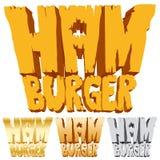 Het embleem van de hamburger Stock Fotografie
