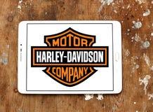 Het embleem van de Harley davidson motor stock afbeeldingen