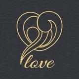 Het embleem van de hartvorm Stock Afbeeldingen