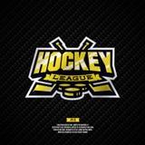 Het embleem van de hockeyliga Stock Foto's
