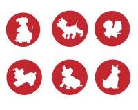 Het Embleem van de hond Royalty-vrije Stock Foto's