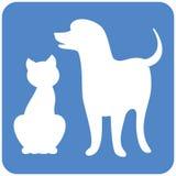 Het embleem van de hond en van de Kat royalty-vrije illustratie