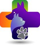 Het embleem van de huisdierenzorg Stock Fotografie