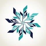 Het embleem van de ijshockeysneeuwvlok stock illustratie