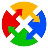 Het embleem van de kleur stock illustratie