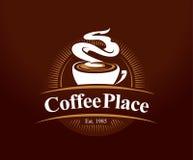 Het Embleem van de koffieplaats Stock Foto's