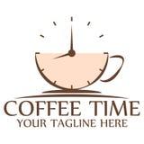 Het embleem van de koffietijd Royalty-vrije Stock Foto