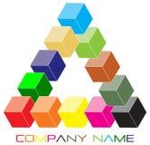 Het embleem van de kubus Stock Fotografie