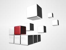 Het embleem van de kubus Stock Foto