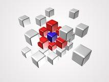 Het embleem van de kubus Stock Afbeeldingen