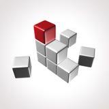 Het embleem van de kubus Stock Foto's