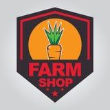 Het embleem van de landbouwbedrijfwinkel Stock Afbeelding