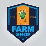 Het embleem van de landbouwbedrijfwinkel Royalty-vrije Stock Afbeelding