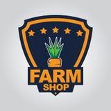 Het embleem van de landbouwbedrijfwinkel Stock Foto's