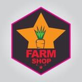 Het embleem van de landbouwbedrijfwinkel Royalty-vrije Stock Afbeeldingen