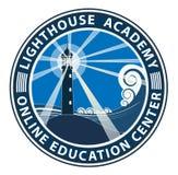 Het embleem van de Lighthousacademie EPS royalty-vrije stock foto's