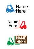 Het embleem van de logistisch-vracht Stock Afbeeldingen