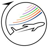 Het embleem van de luchtvaartlijn Royalty-vrije Stock Foto