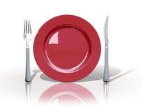Het embleem van de lunch Stock Afbeelding