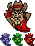 Het Embleem van de Mascotte van de cowboy Stock Afbeeldingen