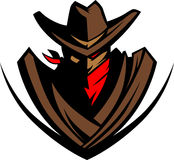 Het Embleem van de Mascotte van de cowboy stock illustratie