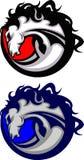 Het Embleem van de Mascotte van de mustang/van het Wild paard stock illustratie
