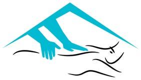 Het embleem van de massage Stock Afbeeldingen