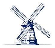Het embleem van de molen stock illustratie