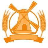 Het embleem van de molentarwe Royalty-vrije Stock Afbeeldingen