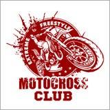 Het embleem van de motocrosssport vector illustratie