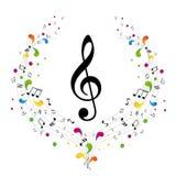 Het embleem van de muziek - g-sleutel Royalty-vrije Stock Foto's
