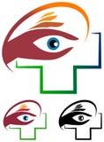 Het embleem van de oogzorg royalty-vrije illustratie