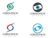 Het embleem van de oogzorg en van het symbolenmalplaatje vectorpictogrammen app vector illustratie