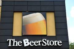 Het Embleem van de Opslag van het bier stock afbeeldingen