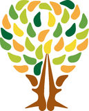 Het embleem van de paarboom Royalty-vrije Stock Afbeelding