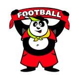 Het embleem van de pandaventilator stock illustratie