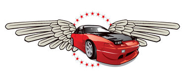 Het embleem van de raceauto Stock Afbeelding