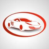 Het embleem van de raceauto Stock Foto's