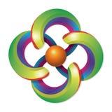 Het Embleem van de regenboog Stock Fotografie