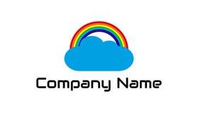 Het embleem van de regenboogwolk Royalty-vrije Stock Afbeeldingen